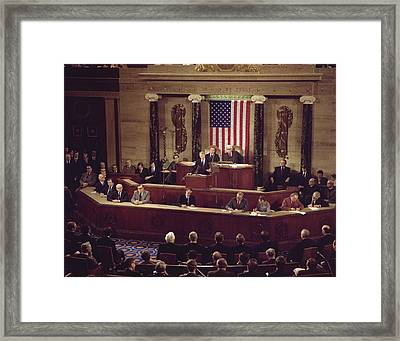 Jimmy Carter Presents His State Framed Print by Everett
