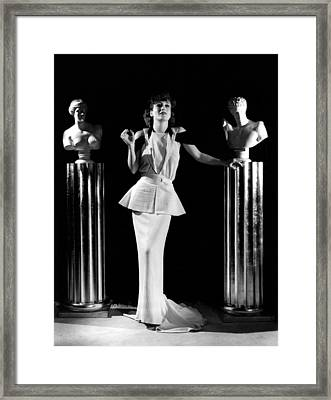 Joan Crawford, Ca. 1930s Framed Print by Everett