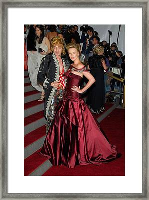 John Galliano, Charlize Theron Wearing Framed Print by Everett