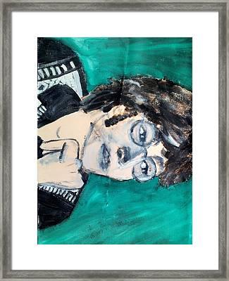 John Lennon Framed Print by Julie Butterworth