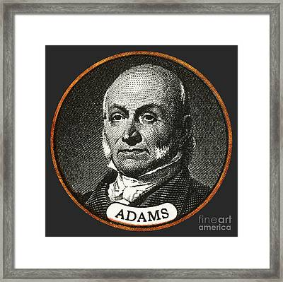 John Quincy Adams, 6th American Framed Print by Photo Researchers