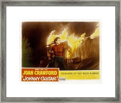 Johnny Guitar, Joan Crawford, Sterling Framed Print by Everett