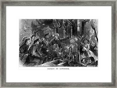 Kansas: Lawrence, 1856 Framed Print by Granger