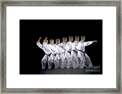 Karate Expert Framed Print by Ted Kinsman