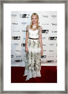 Kate Bosworth Wearing A Dolce & Gabbana Framed Print by Everett