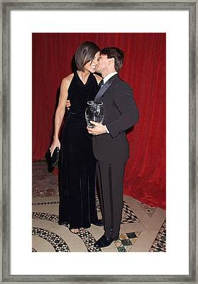 Katie Holmes, Tom Cruise At Arrivals Framed Print by Everett