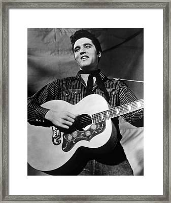 King Creole, Elvis Presley, 1958 Framed Print by Everett