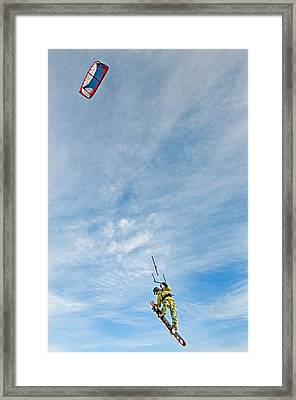 Kite Board Framed Print by Elijah Weber
