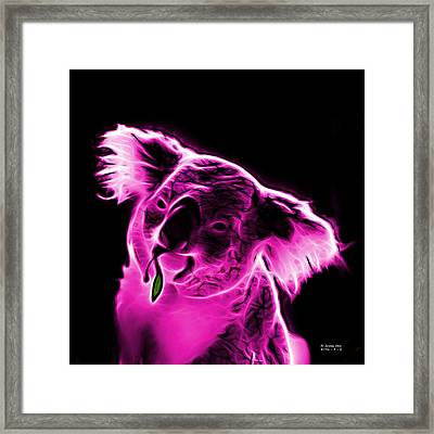 Koala Pop Art - Magenta Framed Print by James Ahn