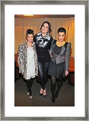 Kourtney Kardashian, Khloe Kardashian Framed Print by Everett