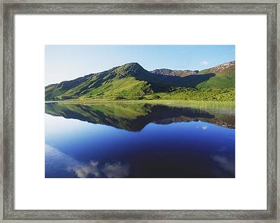 Kylemore Lake, Co Galway, Ireland Lake Framed Print by The Irish Image Collection