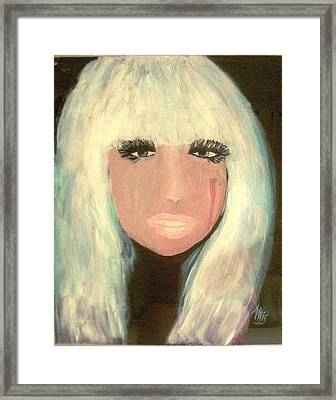 Lady Gaga Framed Print by Marie Bulger