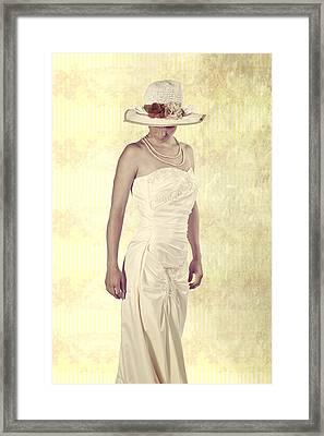 Lady In White Dress Framed Print by Joana Kruse