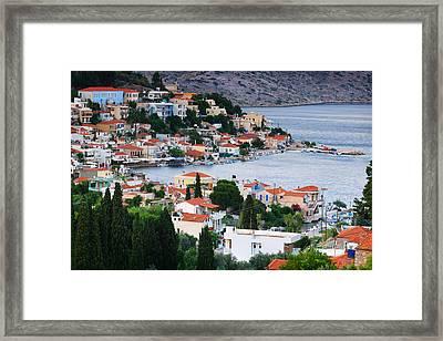 Lagada. Chios Greece  Framed Print by Emmanuel Panagiotakis