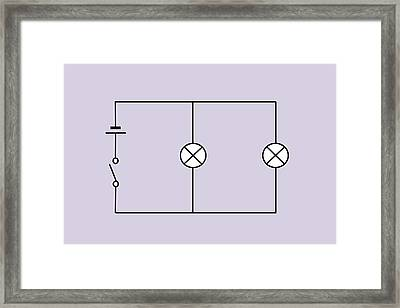 Lamps Connected In Parallel Framed Print by Sheila Terry