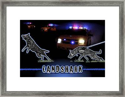 Landshark Framed Print by Rose Borisow