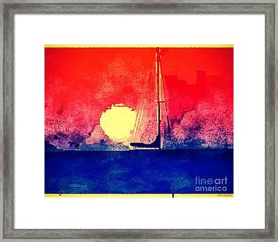 Last Boat Leaving Framed Print by Christine Segalas