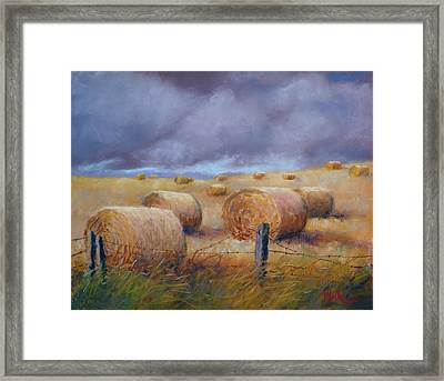 Last Crop Framed Print by Marcus Moller