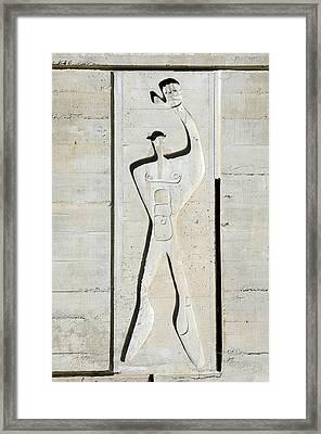 Le Corbusier Design Framed Print by Chris Hellier