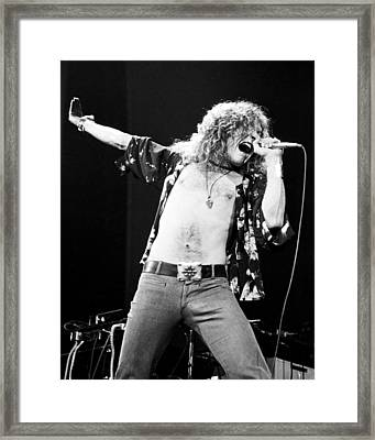Led Zeppelin Robert Plant 1975 Framed Print by Chris Walter