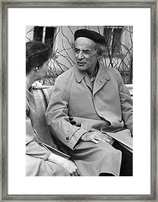 Lev Landau, Soviet Physicist Framed Print by Ria Novosti
