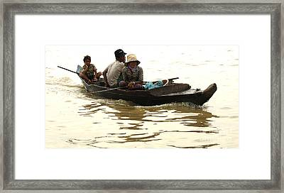 Life On Lake Tonle Sap 3 Framed Print by Bob Christopher