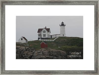 Lighthouse Framed Print by Claire Reilly