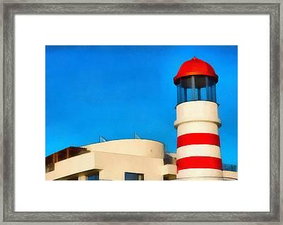 Lighthouse Framed Print by Odon Czintos