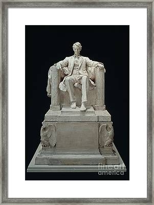 Lincoln Memorial: Statue Framed Print by Granger