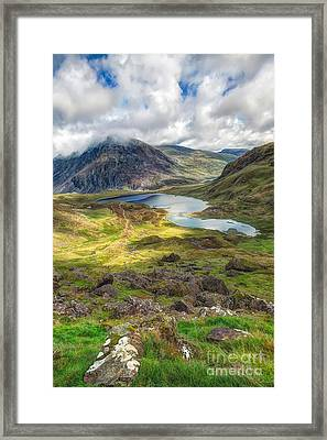 Llyn Idwal Lake Framed Print by Adrian Evans