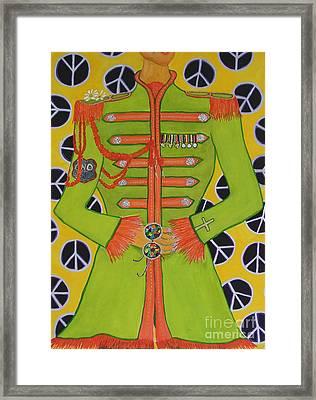 Lonely Hearts Club Member John Framed Print by Barbara Nolan