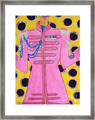 Lonely Hearts Club Member Ringo Framed Print by Barbara Nolan