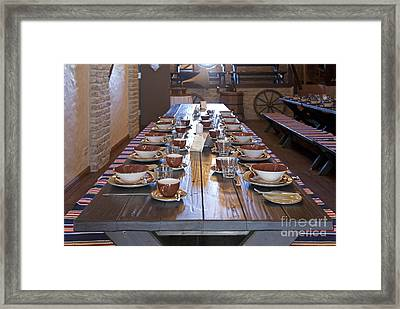Long Dining Room Table Framed Print by Jaak Nilson