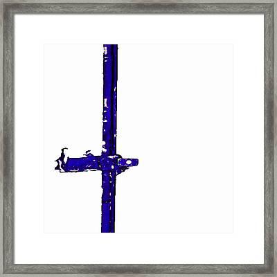 Long Lock In Blue Framed Print by J erik Leiff