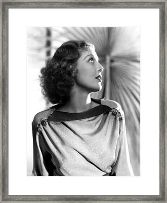 Loretta Young, 1930s Framed Print by Everett