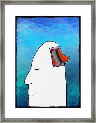 Lost Your Mind, Conceptual Artwork Framed Print by David Gifford