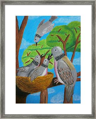 Love And Dove Framed Print by Adam Wai Hou