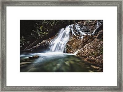Lower Cascades Of Malachite Creek Framed Print by A A