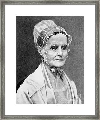 Lucretia Coffin Mott Framed Print by Granger