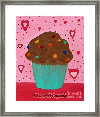 M And M Cupcake Framed Print by Barbara Griffin