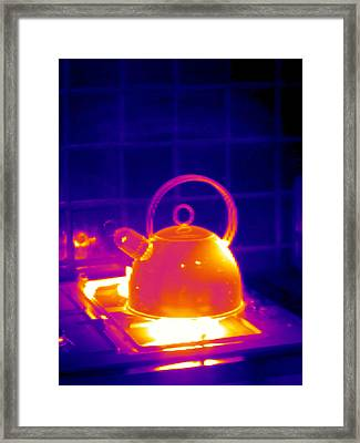 Making Tea, Thermogram Framed Print by Tony Mcconnell