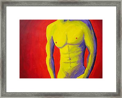 Male Nude Frontal Framed Print by Randall Weidner