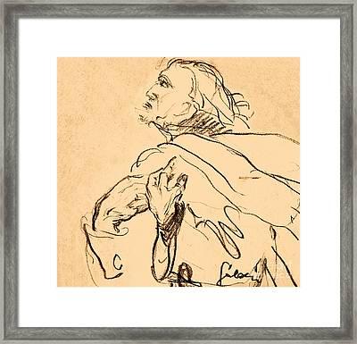 Man Portrait Framed Print by Odon Czintos