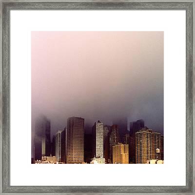 Manhattan Framed Print by Eli Maier
