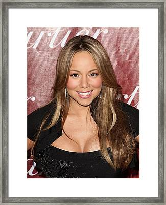 Mariah Carey At Arrivals For 21st Framed Print by Everett
