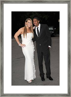 Mariah Carey Wearing A Georges Chakra Framed Print by Everett