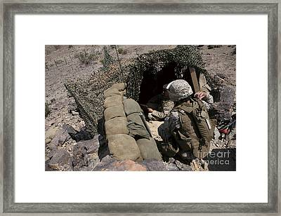 Marines Provide Security Framed Print by Stocktrek Images