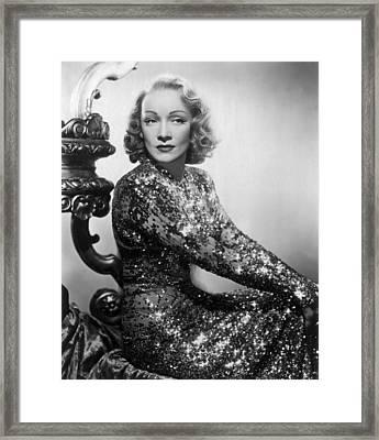 Marlene Dietrich Framed Print by Everett