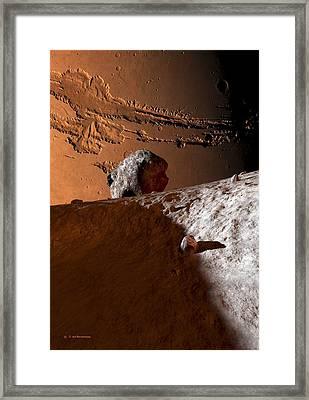 Mars As Seen From Phobos, Artwork Framed Print by Detlev Van Ravenswaay