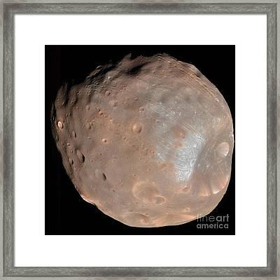 Mars Moon Phobos Framed Print by Stocktrek Images